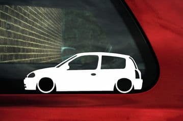 2x LOW Renault Clio Mk2 sport RS 172 Pre-Facelift outline stickers / Decals
