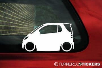 2x LOW Smart ForTwo (1st gen) car silhouette outline stickers / Decals