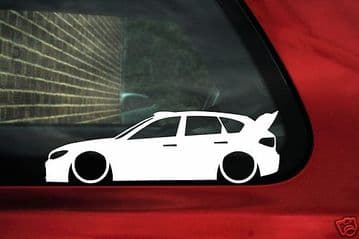 2x LOW Subaru impreza WRX Sticker 3rd Gen, Ken block rally car inspired outline