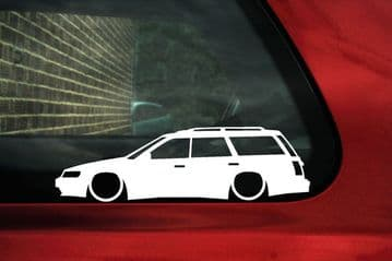 2x LOW Subaru Legacy GT Touring wagon BC-BJ-BF series outline,silhouette sticker