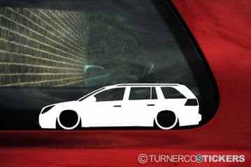 2x LOW Vauxhall / Opel Vectra C (2005-2008 ) facelift estate wagon silhouette stickers, Decals