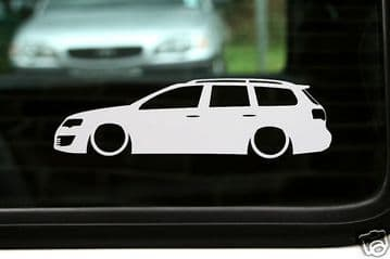 2x LOW Volkswagen vw Passat B6 R36 /TDi estate outline silhouette stickers / Decals