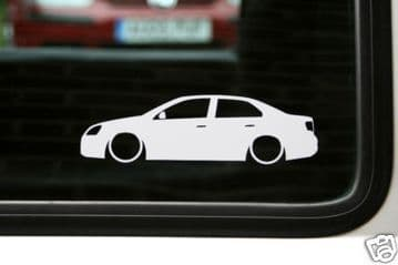2x LOW VW jetta mk5 TDi / TFSi / blue motion ,outline, silhouette stickers / Decals