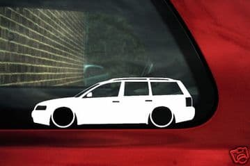 2x LOW VW Passat B5 estate wagon ,1.8t,20v Turbo,v5 outline silhouette stickers