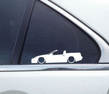 2X Lowered car JDM stickers - For Nissan 300zx convertible Z32 | Fairlady-Z L157