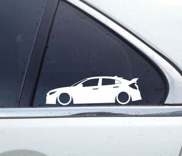 2X Lowered car outline JDM stickers - For Honda Civic Type-R, FK8 2017- | L114