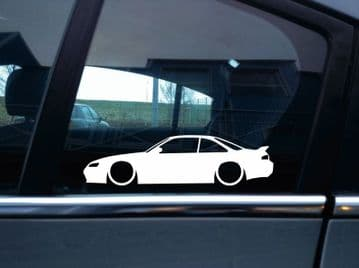 2X Lowered car outline JDM stickers - For Nissan 240 SX Silvia S14 Kouki L1117