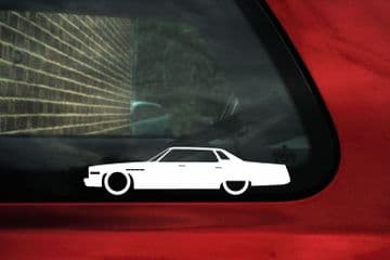 2X Lowered car outline stickers - for 1976 Buick Electra Park Ave | classic L1628