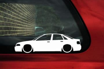 2x Lowered car outline stickers - for Audi A4 (B5) S4 sedan VAG L349