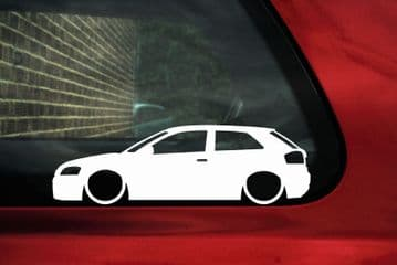 2x Lowered car outline stickers for Audi S3 / A3 (8P) TFSI L341