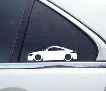2x Lowered car outline stickers -for Audi TT 8J (mk2) 2006-2014 | TTS Coupe L356