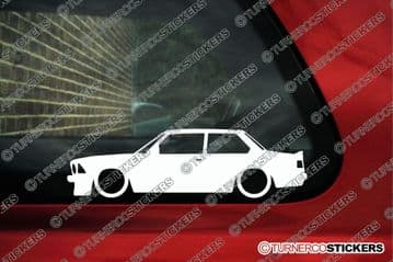 2X Lowered car outline stickers - for BMW E21 320i 323i 3-Series classic | L626
