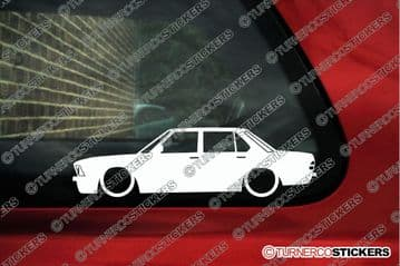 2X Lowered car outline stickers - for Bmw E28 535i 5-Series | classic car L361