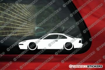 2X Lowered car outline stickers - for Bmw E31 840i / 850i 8-series classic L596