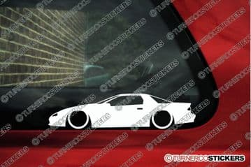 2X Lowered car outline stickers for Chevrolet Camaro Z28 4th gen 1993-1997 L771