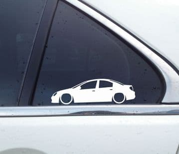 2x Lowered car outline stickers - for Chrysler Dodge Neon (2000-2005) L1299