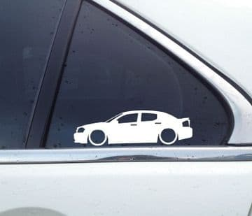 2X Lowered car outline stickers - for Dodge Avenger L1529