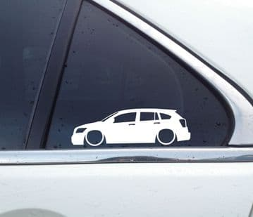 2X Lowered car outline stickers - for Dodge Caliber L1300