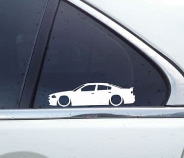 2x Lowered car outline stickers - for Dodge Charger SRT-8, 7th gen (2011-2014) muscle L858