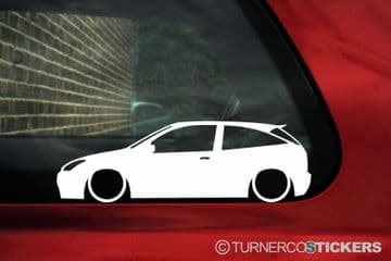 2x Lowered car outline stickers -for Ford Focus Mk1 ZX3 hatchback | ST170 | L421