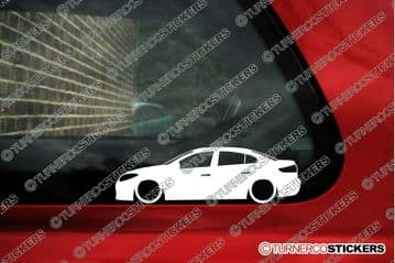 2x Lowered car outline stickers - for Renault Fluence