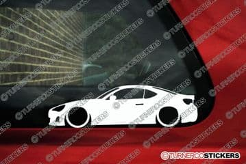 2x Lowered car outline stickers - for Scion FRS / Toyota GT86 JDM | L163