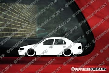 2x Lowered car outline stickers -for Toyota Corolla sedan AE100 1992-1998 L1068
