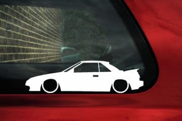 2x Lowered car outline stickers for Toyota Mr2 Aw11 (w10) mk1 classic JDM L1053