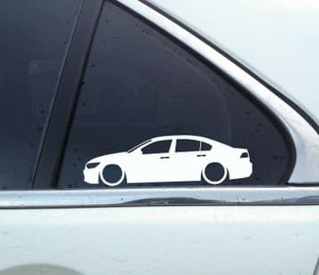 2x Lowered car outline stickers - for Volkswagen VW Passat B8 GTE GTD sedan / saloon
