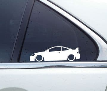 2x Lowered car silhouette stickers - for Honda Integra DC5 Type R | Acura RSX L1630