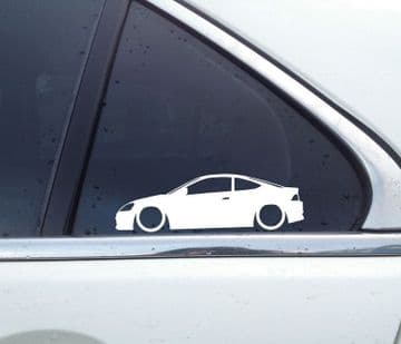 2x Lowered car silhouette stickers - for Honda Integra DC5 Type R | Acura RSX *(no wing) L1629