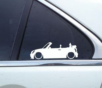 2x Lowered car silhouette stickers - for Mini Convertible R52 cabrio |auto aufkleber
