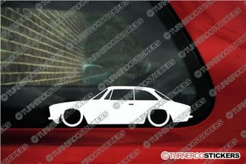 2X Lowered car stickers for Alfa Romeo 105 / 115 GTV Coupe junior Classic L1430