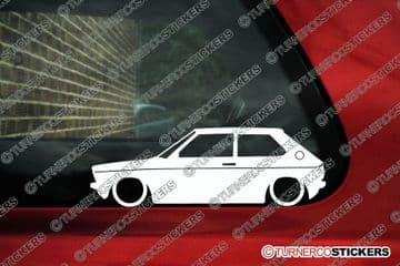 2X Lowered car stickers for Audi 50 (1974-1978) classic VW | L106