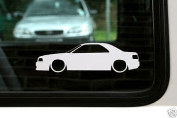 2x Lowered car stickers - for Audi 80 / 90 convertible cabrio | classic L758