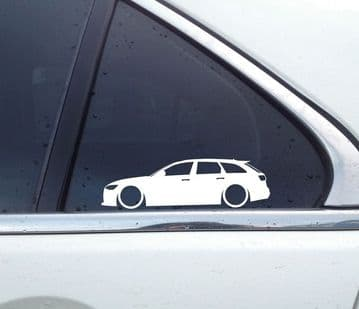 2x Lowered car stickers for Audi A6 RS6 avant wagon ( C7 /4G ) vag L1335