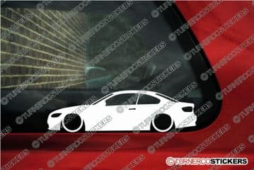 2x Lowered car stickers - for Bmw 3-series Coupe E92 320d 320i 330i 335d L259