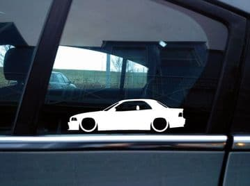2X Lowered car stickers - for Bmw E36 3-series m3 Convertible hardtop L219