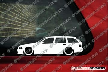 2X Lowered car stickers - for Bmw E36 3-series Touring wagon 328i L220
