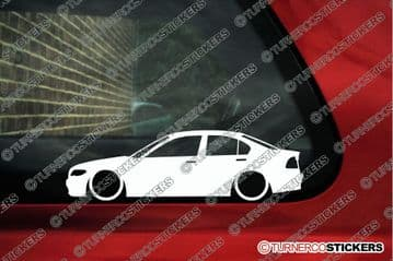 2X Lowered car stickers - for Bmw E46 3-series sedan (facelift 2002-2006 ) L207