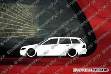 2X Lowered car stickers for Bmw E46 3-series Touring Facelift Wagon | L205