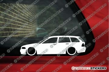 2X Lowered car stickers - for Bmw E46 3-series Touring Wagon 1999-02 | L204