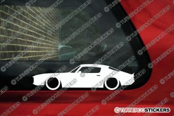 """2X Lowered car stickers for Chevrolet Camaro """"bullnose"""" 1970-1973 