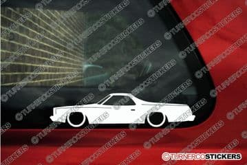 2X Lowered car stickers for CHEVROLET El Camino 1973-1977 | classic car L1217