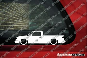 2X Lowered car stickers - for CHEVROLET S-10 Single cab Pickup (1998-2004) L1227