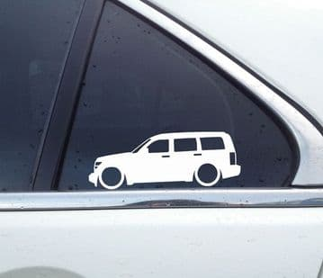 2X Lowered car stickers - for Dodge Nitro SUV L1298