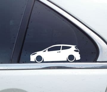2x Lowered car stickers for Ford Fiesta ST | ST-3 3-door (MK8, 2018-) L1028