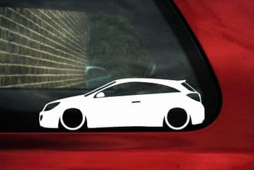 2x Lowered car stickers - for Vauxhall Astra VXR mk5 H 3-DOOR L390