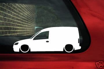 2x Lowered car stickers - for Vauxhall Combo C van | tuning L398