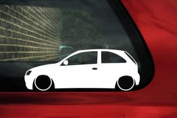2X Lowered car stickers - for Vauxhall Corsa C (3-door) SRi hatchback | L72